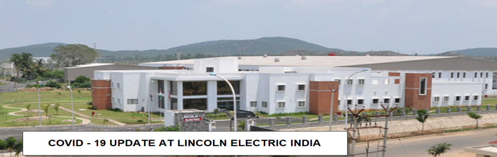 COVID-19 UPDATE AT LINCOLN ELECTRIC COMPANY